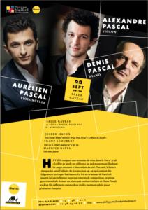 Trio Pascal en concert salle gaveau le 22 septembre 2021